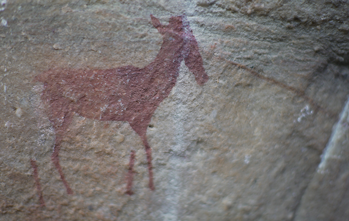 Genius of life Sacred Ecology with historic rock painting at Rockwood
